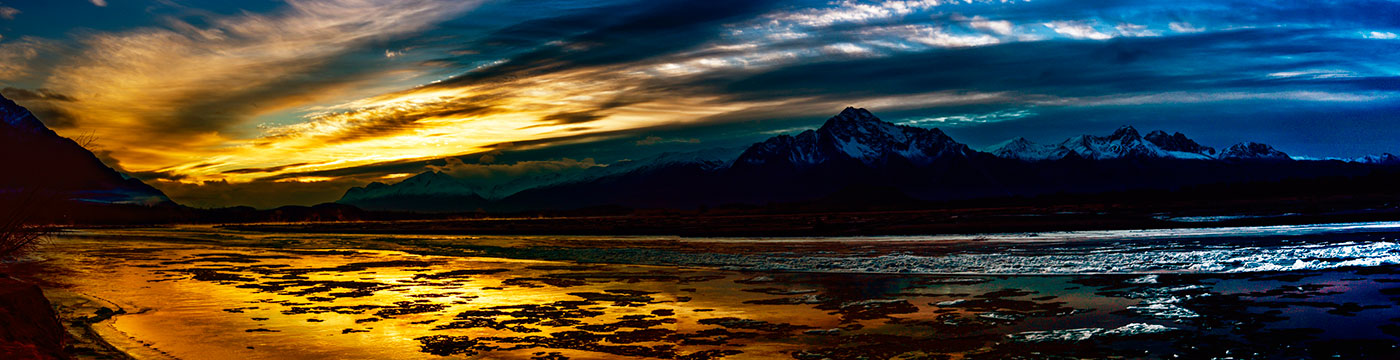 Sunrise over Matanuska-Susitna Valley Alaska