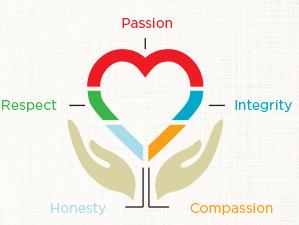 Values diagram