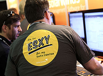 Employees back - tshirt reads I'm to esxy for my data center